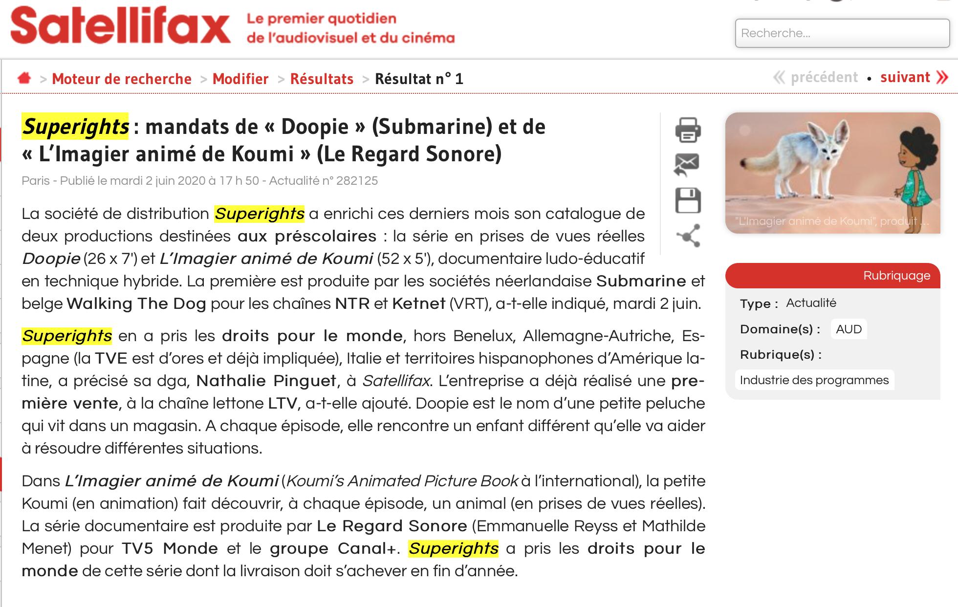 Superights signe deux nouveaux mandats de distribution!
